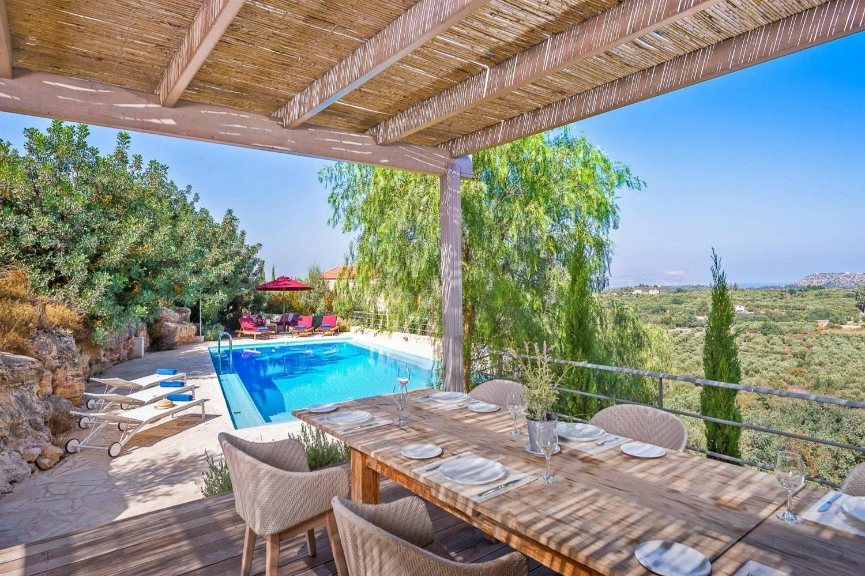 View from a Villa in Gavalochori.-Take a Chef