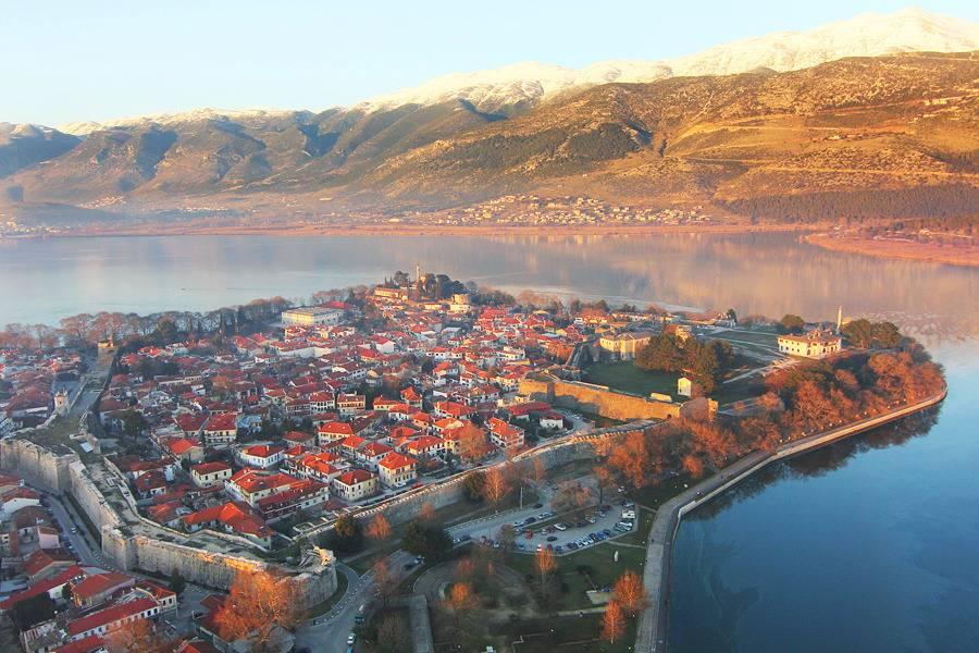 Beautiful air views of Ioannina - Take a Chef