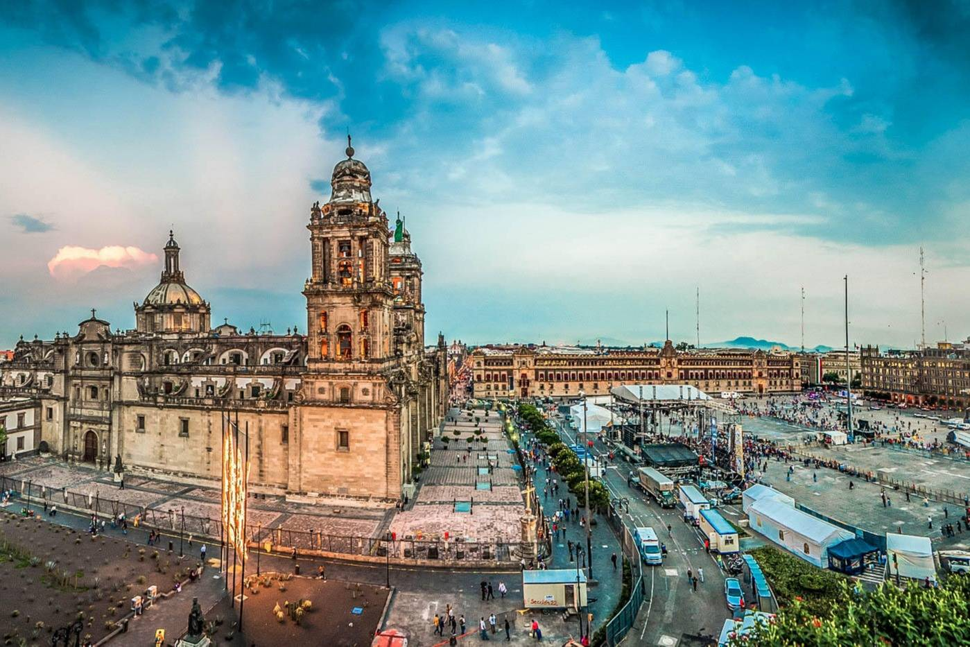 Aereal view of Mexico City