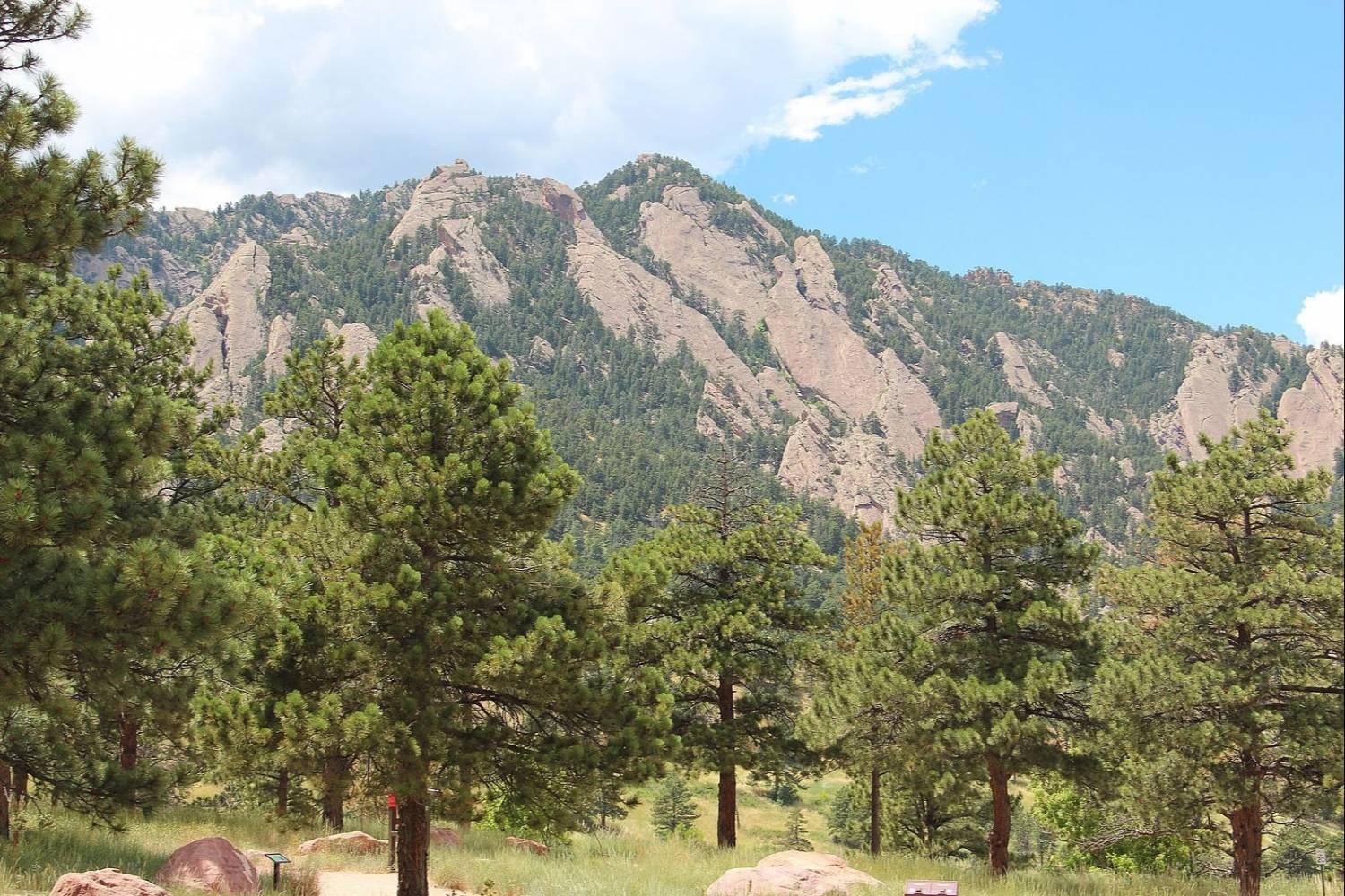 Mountain view in Boulder, CO