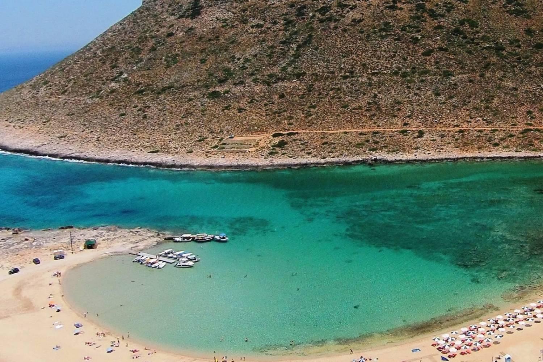 Areal view of Akrotiri Crete beach - Take a Chef