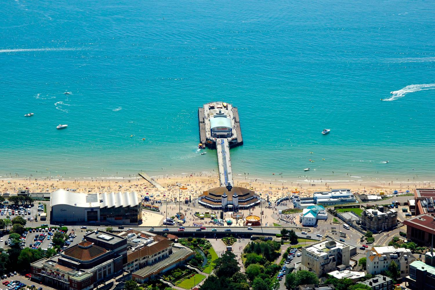 View of Bournemouth with its famous pier.- Take a Chef
