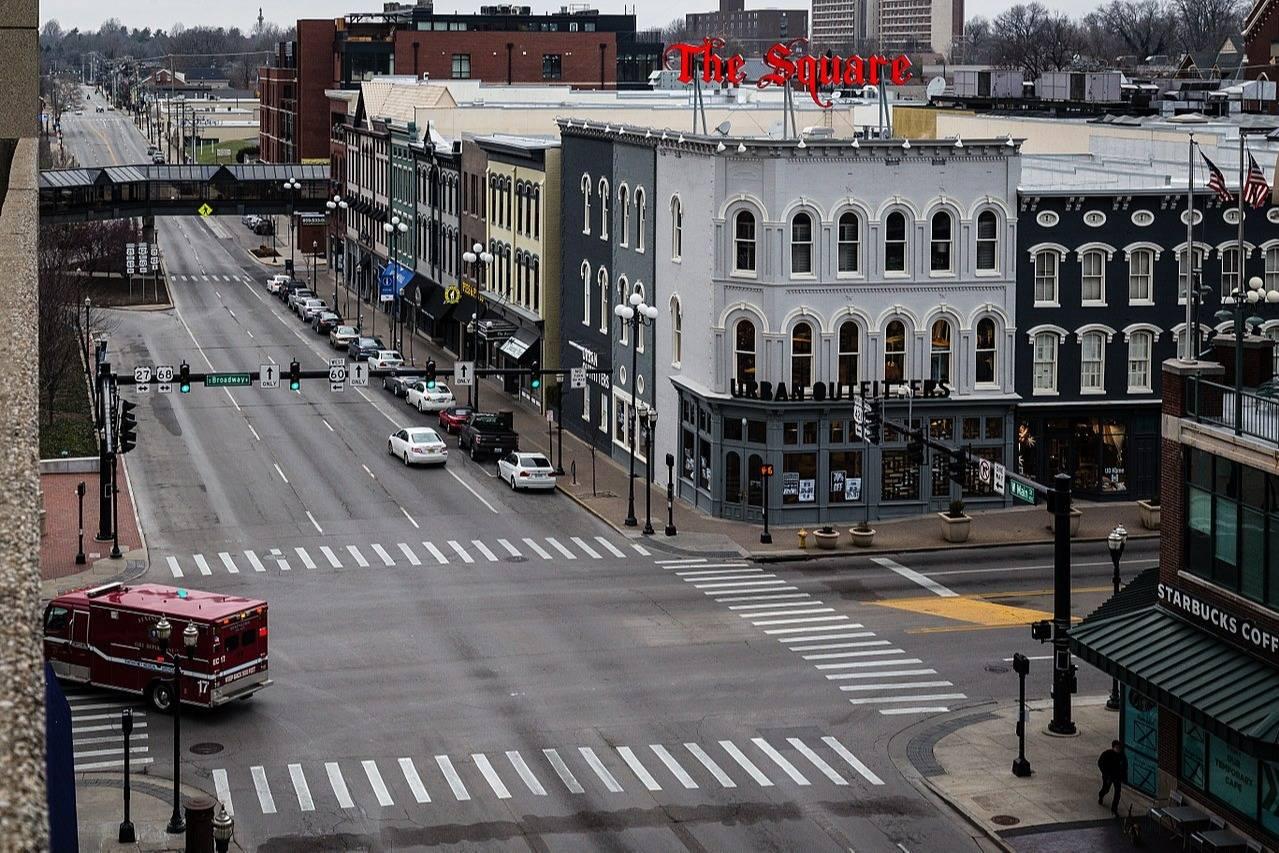 Panoramic view of downtown Lexington