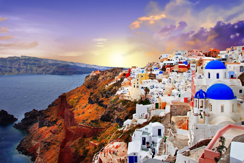 Areal view of Akrotiri Santorini - Take a Chef