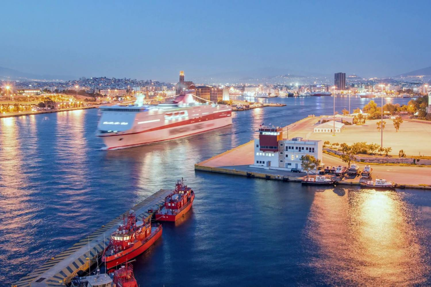 Areal view of Piraeus port - Take a Chef